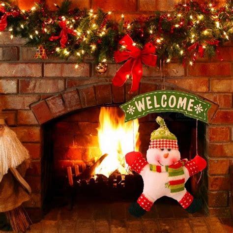 santas house of games xmas door decoration decoration santa claus snowman tree door home ornaments decor hanging pendant