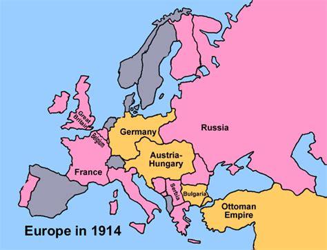 europe map 1914 a powder keg in europe an introduction to world war i mrdowling