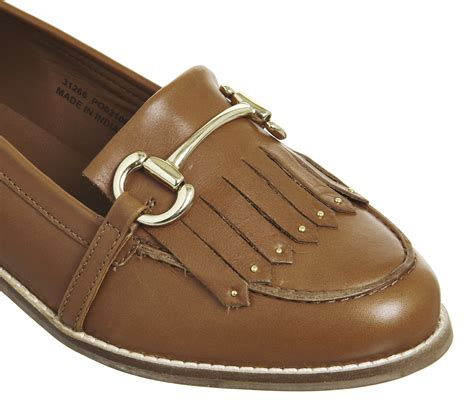 Stud Loafers office fright stud loafers leather flats