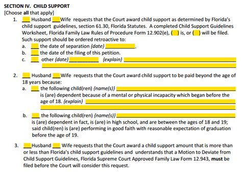 section 9 child support guidelines child support guidelines worksheet florida lesupercoin