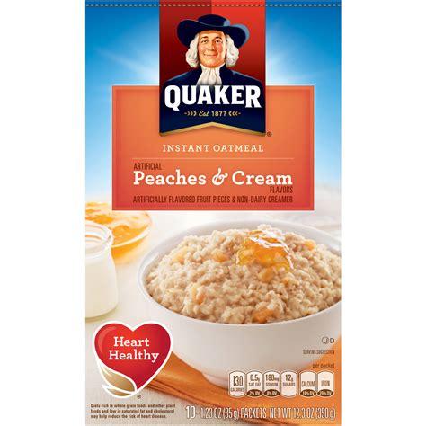 whole grain quaker oats nutrition facts quaker maple brown sugar instant oatmeal 15 1 oz