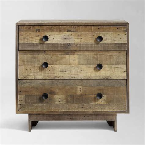 3 Dresser Drawer by Emmerson Reclaimed Wood 3 Drawer Dresser West Elm