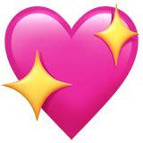 emoji hati sparkling heart emoji on apple ios 10 2