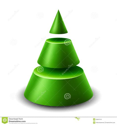 cone christmas tree royalty  stock image image