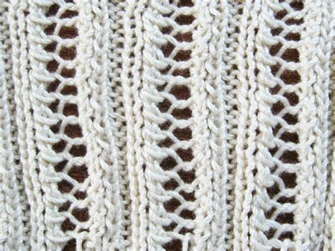 knitting with eyelet lace eyelet lace ribbing knitting pattern how did you make