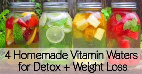 Easy Detox Drinks To Loss Weight by 4 Vitamin Waters For Detox Weight Loss
