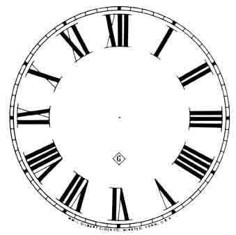 printable paper clock dials 11 quot gilbert roman paper dial