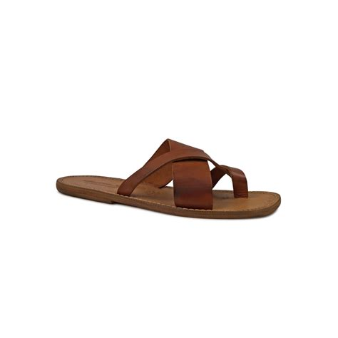 Handmade Mens Sandals - handmade italian leather thongs sandals for gianluca