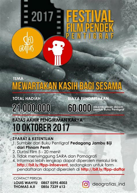 tema untuk membuat film pendek orang muda katolik indonesia ditantang membuat film pendek