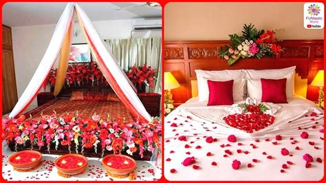 romantic wedding marriage room decoration ideas bridal