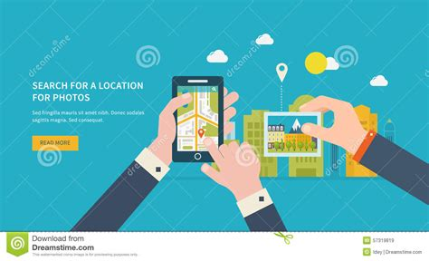 Search For By Location On Search For A Location On Photos Stock Vector Image 57319819