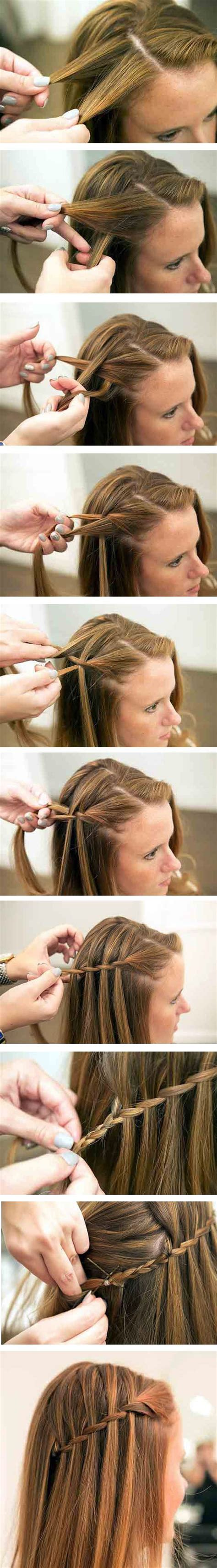 waterfall hairstyle step by step step by step the waterfall braid hairstyle love and sayings