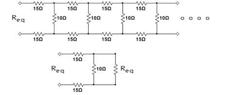 infinite resistor network equivalent resistance determine the equivalent resistance of the infinit chegg