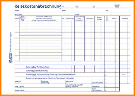 Kostenlose Vorlage Reisekosten Reisekostenabrechnung Formular Kostenlos Avery Zweckform Reisekostenabrechnung