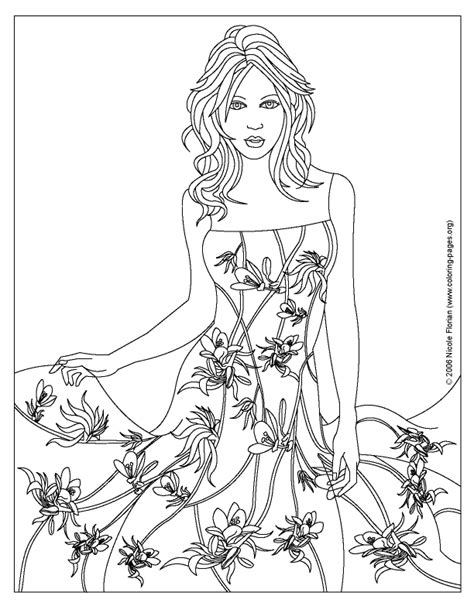 Coloring Pages For Adults Fashion | coloring pages of designs dresses fashion design coloring