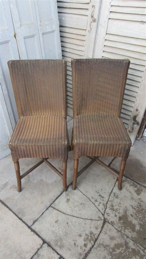 Lloyd Loom Dining Chairs Pair Of Vintage Lloyd Loom Dining Chairs Antiques Atlas