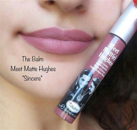 Lipstik Hughes thebalm makeup lipstick the balm meet matte hughes