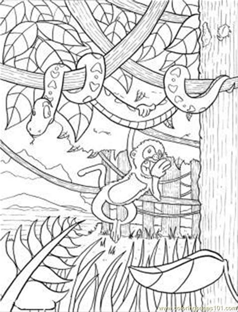rainforest background coloring page forest background coloring pages