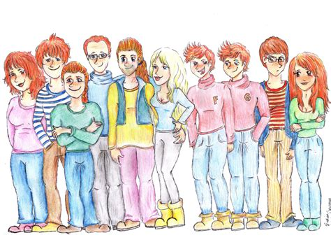 the weasley family by kendrakickz0220 on deviantart the weasley family by eveliien on deviantart