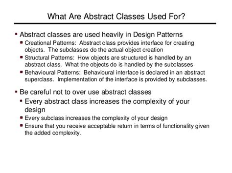 abstract method pattern c abstract class