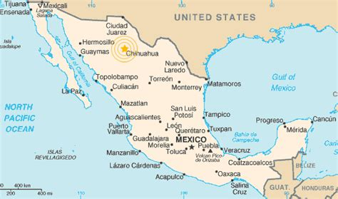 map of mexico chihuahua maps of chihuahua