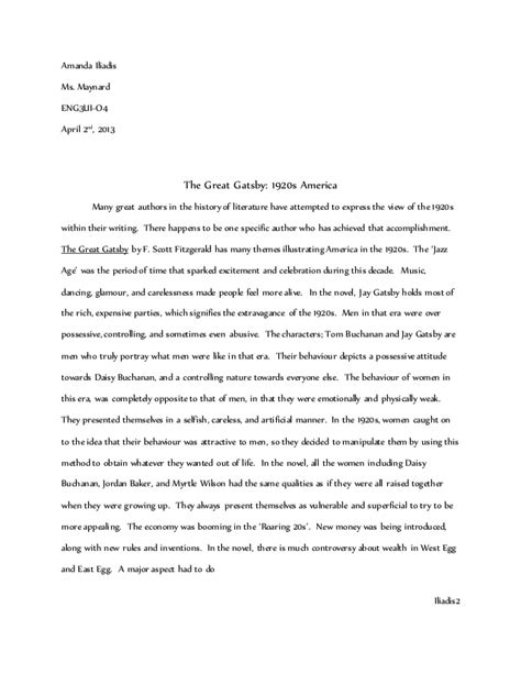 gatsby essay english essay papers research essay topic ideas the