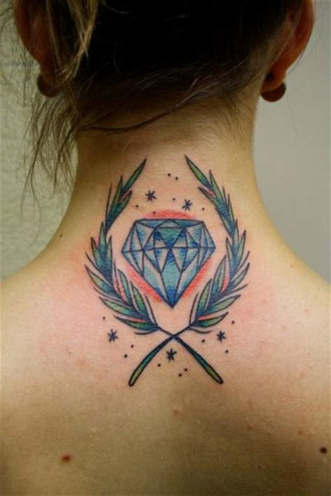 tattoo diamond neck neck diamond tattoo by la dolores tattoo