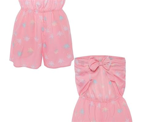 Posh Thinks Pink by Gorgeous Pink Posh Poly Playsuit By Primark