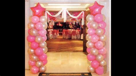adornos de 15 aos decoracion con globos para 15 a 209 os youtube