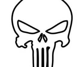 punisher template punisher skull outline patterns skulls sugar skulls
