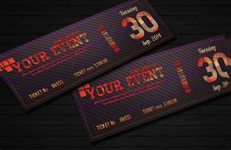 event ticket design template ticket invitation template 55 free psd vector eps ai