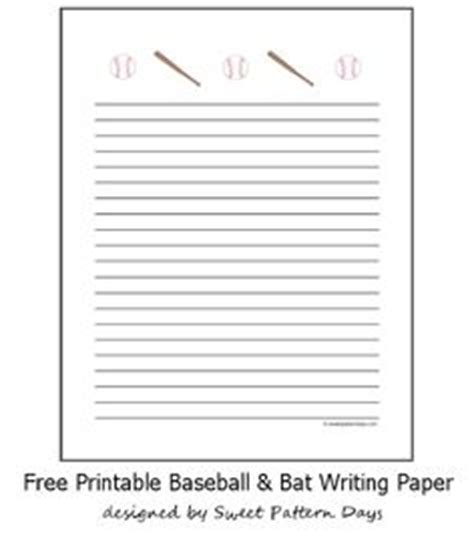 printable baseball stationery paper stationery printables on pinterest writing papers free