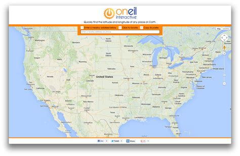 Lat Address Lookup Find Your Latitude Longitude From Oneil Interactive