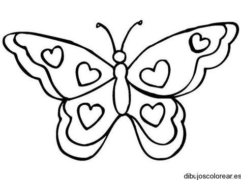 imagenes de mariposas monarcas para colorear dibujo de una mariposa con corazones