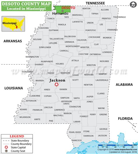 desoto county map mississippi