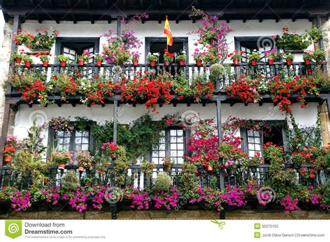beautiful balcony with sunbeds and plants with beautiful beautiful balcony with flowers stock photo image 35270150