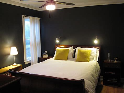 painted bedrooms ideas super dark grey wall painted with brown teak wood master