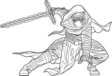 star wars coloring page kylo ren polkadots on parade star wars the force awakens coloring