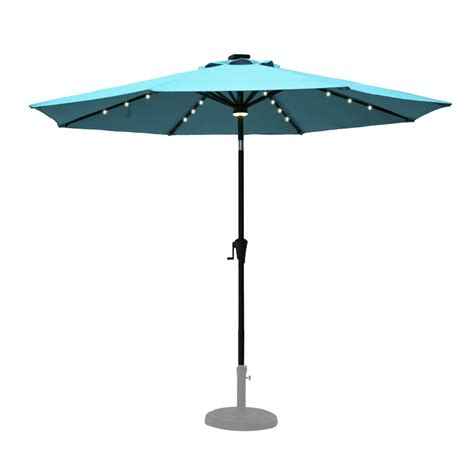 Patio Umbrellas With Solar Lights Best Solar Patio Umbrellas And Umbrella Lights Ledwatcher