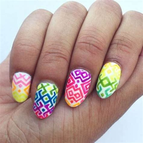 neon pattern nails pretty neon nail art designs for your inspiration noted list