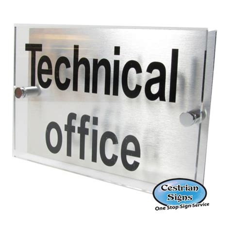 Office Name Plates by Aluminium Backed Perspex Office Name Plate Sign Xl