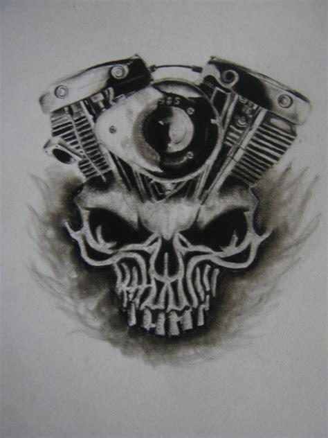 daytona bike week skull x shovelhead engine by