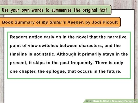 how to start book report how to start a summary paragraph 10 steps with pictures
