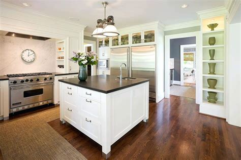 kitchen island columns support beams as decorative columns