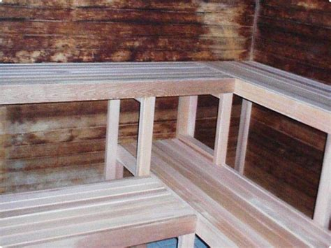 sauna bench plans precut indoor saunas kits
