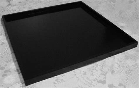 Large Tray To Put On Ottoman Large Handmade Black Wood Ottoman Tray 36 X 36