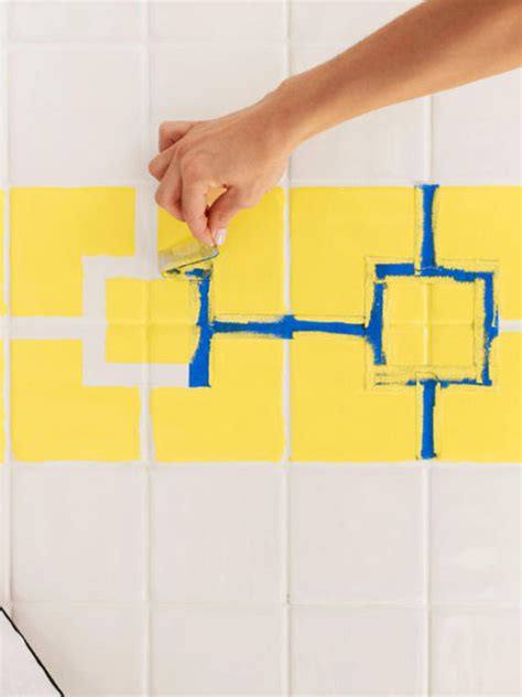 how to paint ceramic tile in bathroom how to paint ceramic tile diy painting bathroom tile