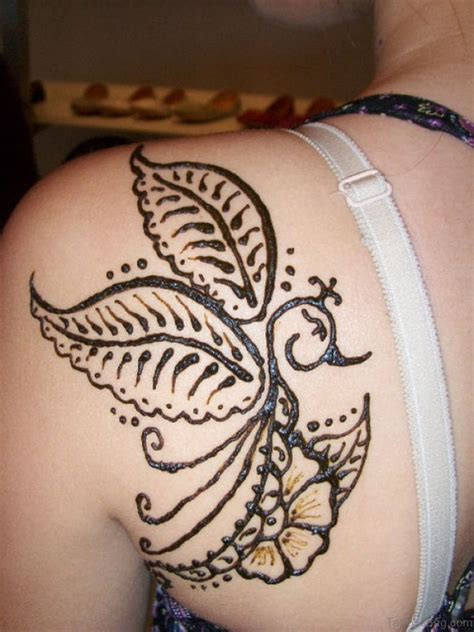typography tattoo 45 lovely henna on shoulder