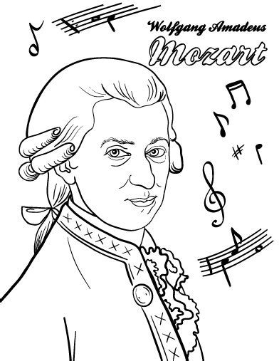 music composer coloring pages printable mozart coloring page free pdf download at http