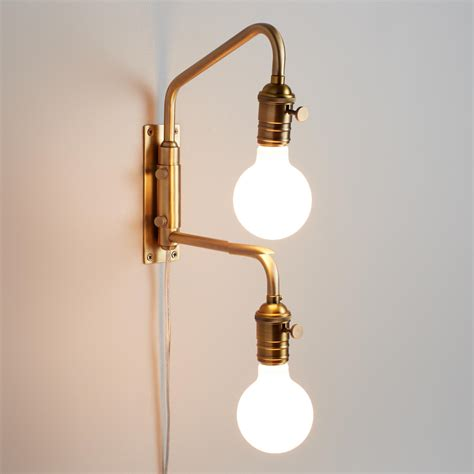 Adjustable Wall Sconce Antique Gold Dual Bulb Adjustable Wall Sconce World Market